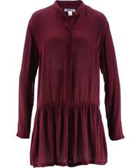 bpc bonprix collection Crinkle-Bluse, mit Schößchen langarm in rot von bonprix