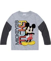 Disney Mickey Langarmshirt grau in Größe 98 für Jungen
