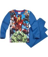 Avengers Assemble Pyjama blau in Größe 116 für Jungen aus Vorderseite: 100% Polyester 100% Baumwolle