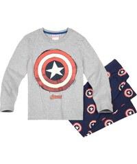 Avengers Assemble Pyjama marine blau in Größe 116 für Jungen aus 100% Baumwolle Grau: 60% Baumwolle 40% Polyester