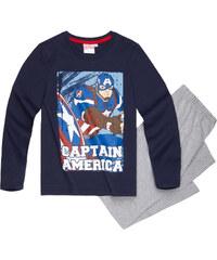 Avengers Assemble Pyjama grau in Größe 116 für Jungen aus 100% Baumwolle Grau: 60% Baumwolle 40% Polyester