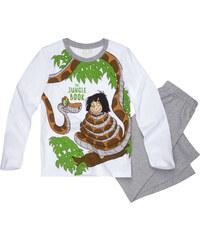Disney Das Dschungelbuch Pyjama grau in Größe 98 für Jungen aus 100% Baumwolle Grau: 60% Baumwolle 40% Polyester