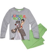 Disney Das Dschungelbuch Pyjama grün in Größe 98 für Jungen aus 100% Baumwolle Grau: 60% Baumwolle 40% Polyester