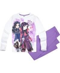 Disney Descendants Pyjama lila in Größe 140 für Mädchen aus 100% Baumwolle