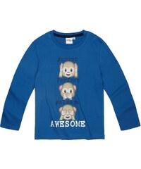 LamaLoLi Langarmshirt blau in Größe 104 für Jungen aus 100% Baumwolle