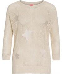 Livre Damen Pullover Sweatshirt körperbetont beige aus Baumwolle
