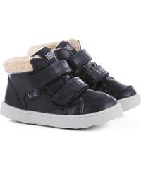 Esprit Kotníčkové boty na suchý zip, vzhled kůže