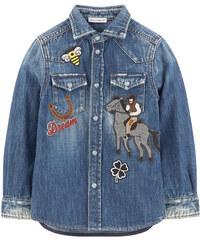 Dolce & Gabbana Jeanshemd mit Patches Western