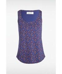 Débardeur femme motifs multicolores Bleu Coton - Femme Taille L - Bonobo