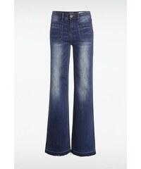Jeans femme bootcut BALI-IRISS Bleu Cuir de vachette - Femme Taille 34 - Bonobo