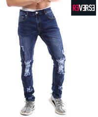 Re-Verse Slim Fit-Jeans im Destroyed-Look - W30-L32
