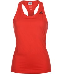 Adidas 2 Stripe Sports Bra Top Ladies Ray Red
