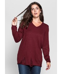 sheego Trend Pullover im Destroyed-Look