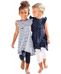 Kidoki Jerseykleid mit Punkten und Streifen (2 Stück), für Mädchen