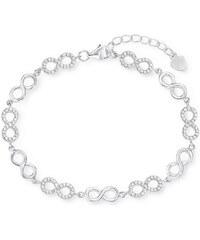 Amor Armband mit Zirkonia, »Unendlichkeit, E107/4, 537223«