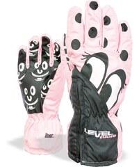 Level lyžařské rukavice LUCKY | Pink