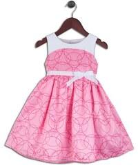 Joe and Ella Fashion Dívčí šaty Hayden - růžovo-bílé