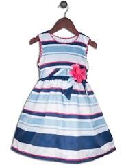 Joe and Ella Fashion Dívčí šaty Alyson pruhované - modro-bílé