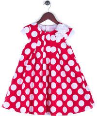 Joe and Ella Fashion Dívčí šaty Niki puntíkované - červeno-bílé