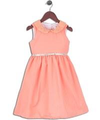 Joe and Ella Fashion Dívčí šaty Celadon - oranžové
