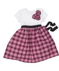 Joe and Ella Fashion Dívčí šaty Kenna - bílo-růžové
