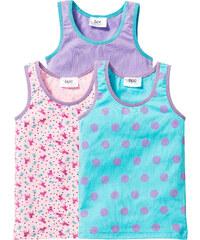 bpc bonprix collection Lot de 3 tricots de peau, T. 92/98-152/158 bleu lingerie - bonprix