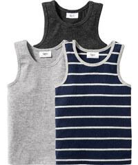bpc bonprix collection Lot de 3 tricots de peau, T. 92/98-176/182 gris lingerie - bonprix