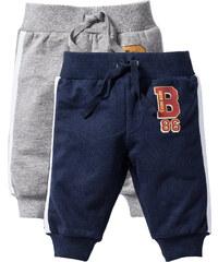 bpc bonprix collection Lot de 2 pantalons sweat bébé coton bio, T. 56-110 gris enfant - bonprix