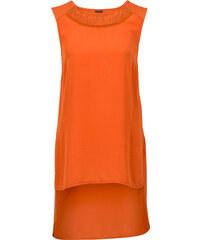 BODYFLIRT T-shirt court-long rouge sans manches femme - bonprix