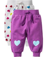 bpc bonprix collection Lot de 2 pantalons sweat bébé coton bio, T. 56-110 blanc enfant - bonprix