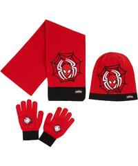 Spiderman 3 tlg Set bestehend aus: Schal, Mütze und Handschuhe rot in Größe 52 für Jungen aus Mütze: 100% Polyacryl Handschuhe: 95% Polyacryl 3% Polyester 2% Elasthan