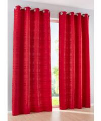 bpc living Vorhang Stripes (1er-Pack), Ösen in rot von bonprix