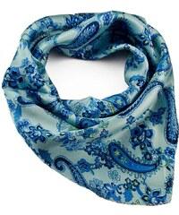 Šátek saténový 63fsk010-31 - bledě modrý, paisley