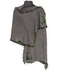 Distler Damen Schal grau mit Wolle