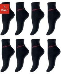 Große Größen: s.Oliver RED LABEL Bodywear Business- und Freizeitkurzsocken (8 Paar), 8x schwarz, Gr.35-38-39-42