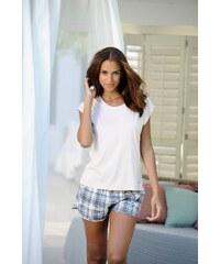 Große Größen: LASCANA Homewear-Shorts »Lou« mit Alloverprint, kariert, Gr.32/34-44/46