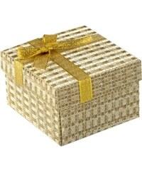 Silver Beads Krabička na hodinky zlatá s mašlí