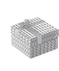 Silver Beads Krabička na hodinky stříbrná s mašlí