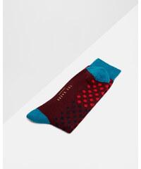 Ted Baker Gepunktete Socken in Blockfarben Dunkelrot