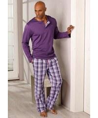 RED LABEL Bodywear Pyjama lang S.OLIVER RED LABEL lila 44/46,48/50,52/54,56/58,60/62