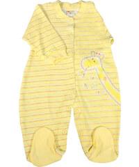Polska Baby Yellow proužkovaný dětský overal 0-3 měs žlutá