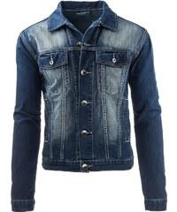 Džínová bunda v tmavě modré stylové barvě