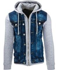 Moderní pánská džínová bunda modrá
