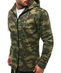 Zelená stylová pánská bunda v maskáčovém designu OZONEE 466