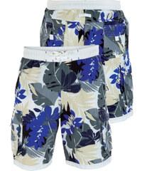 Lesara Badeshorts mit Blumen-Print - Blau - S