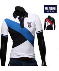 Maritimi Polo avec logo brodé et color block