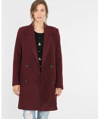 Manteau droit drap de laine grenat, Femme, Taille 34 -PIMKIE- MODE FEMME