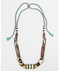 Collier perles en bois peint brun, Femme, Taille 00 -PIMKIE- MODE FEMME