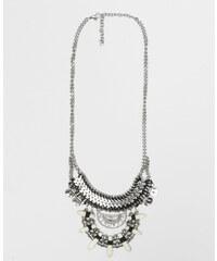 Collier amulettes gris argenté, Femme, Taille 00 -PIMKIE- MODE FEMME
