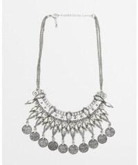 Collier demi-lune à pampilles gris argenté, Femme, Taille 00 -PIMKIE- MODE FEMME